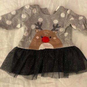 H&M Reindeer Sweater Dress